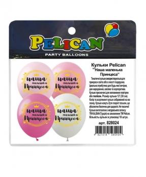 """Купить Шарики Pelican 12' (30 см)  """"Наша маленька принцеса"""" 1-стор., 10шт/уп"""