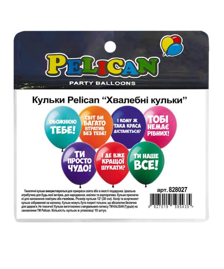 """Шарики Pelican 12' (30 см)  """"Похвальные шарики"""" 1-стор., 10шт/уп"""