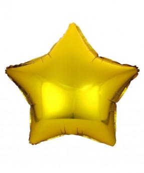 Купить Шар фольг. Pelican 18', звезда золото 45 см, (фасовка по 5шт)
