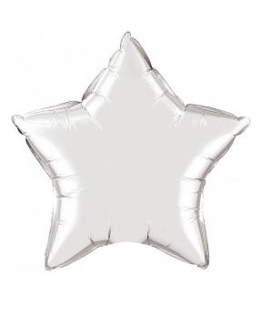 Купить Шар фольг. Pelican 18', звезда серебро 45 см, (фасовка по 5шт)