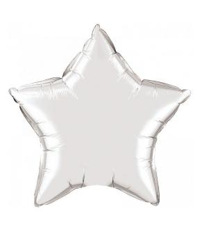 Купить Шар фольг. Pelican 10', звезда серебро 25 см, (фасовка по 5шт)
