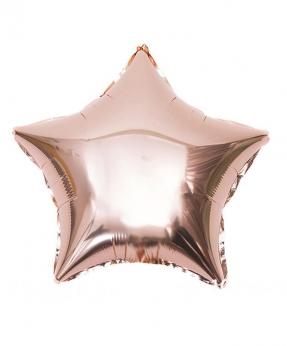 Купить Шар фольг. Pelican 18', звезда розовое золото 45 см, (фасовка по 5шт)