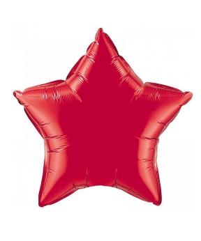 Купить Шар фольг. Pelican 10', звезда красная 25 см, (фасовка по 5шт)