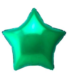 Купить Шар фольг. Pelican 18', звезда зелёная 45 см, (фасовка по 5шт)