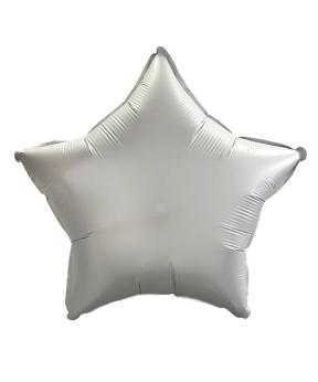 Купить Шар фольг. Pelican 10', звезда сатин серебро 25 см, (фасовка по 5шт)