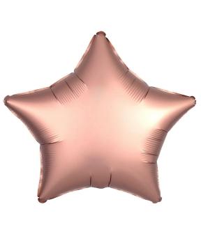 Купить Шар фольг. Pelican 18', звезда сатин розовое золото 45 см, (фасовка по 5шт)