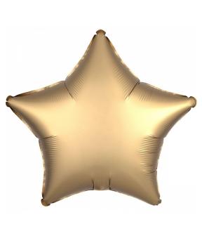 Купить Шар фольг. Pelican 18', звезда сатин бронза 45 см, (фасовка по 5шт)