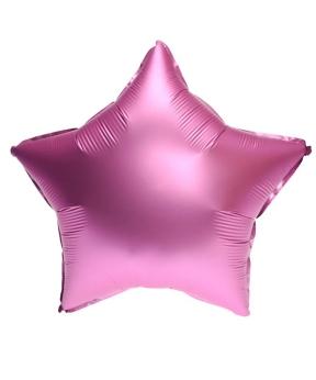 Купить Шар фольг. Pelican 18', звезда сатин розовая 45 см, (фасовка по 5шт)