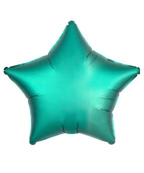 Купить Шар фольг. Pelican 18', звезда сатин зелёная 45 см, (фасовка по 5шт)
