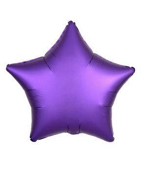 Купить Шар фольг. Pelican 18', звезда сатин фиолетовая 45 см, (фасовка по 5шт)