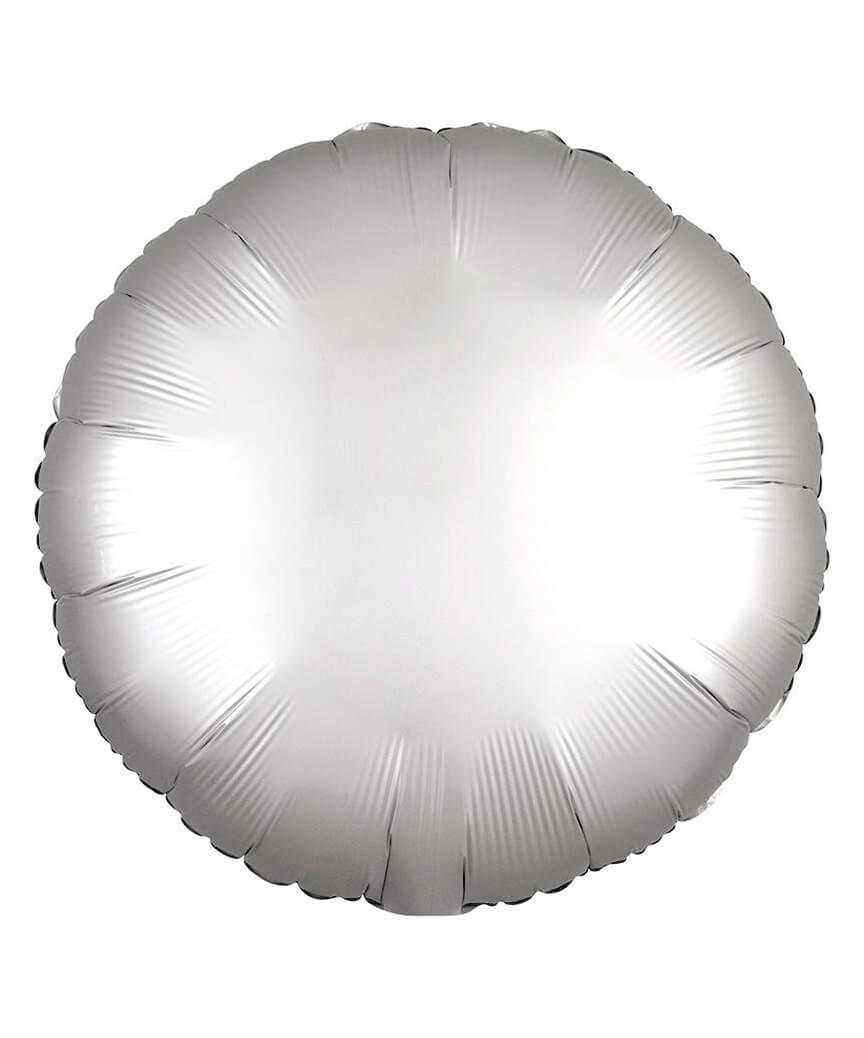 Кулька фольг. Pelican 18', ТАБЛЕТКА САТИН СЕРЕБРО 45 см, (ціна за упак/5шт)