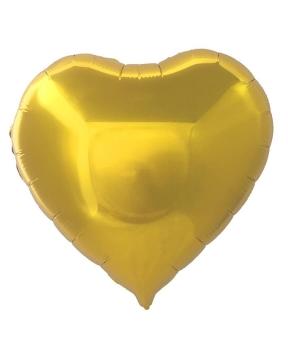Купить Кулька фольг. Pelican 18', СЕРЦЕ ЗОЛОТО 45 см, (ціна за упак/5шт)