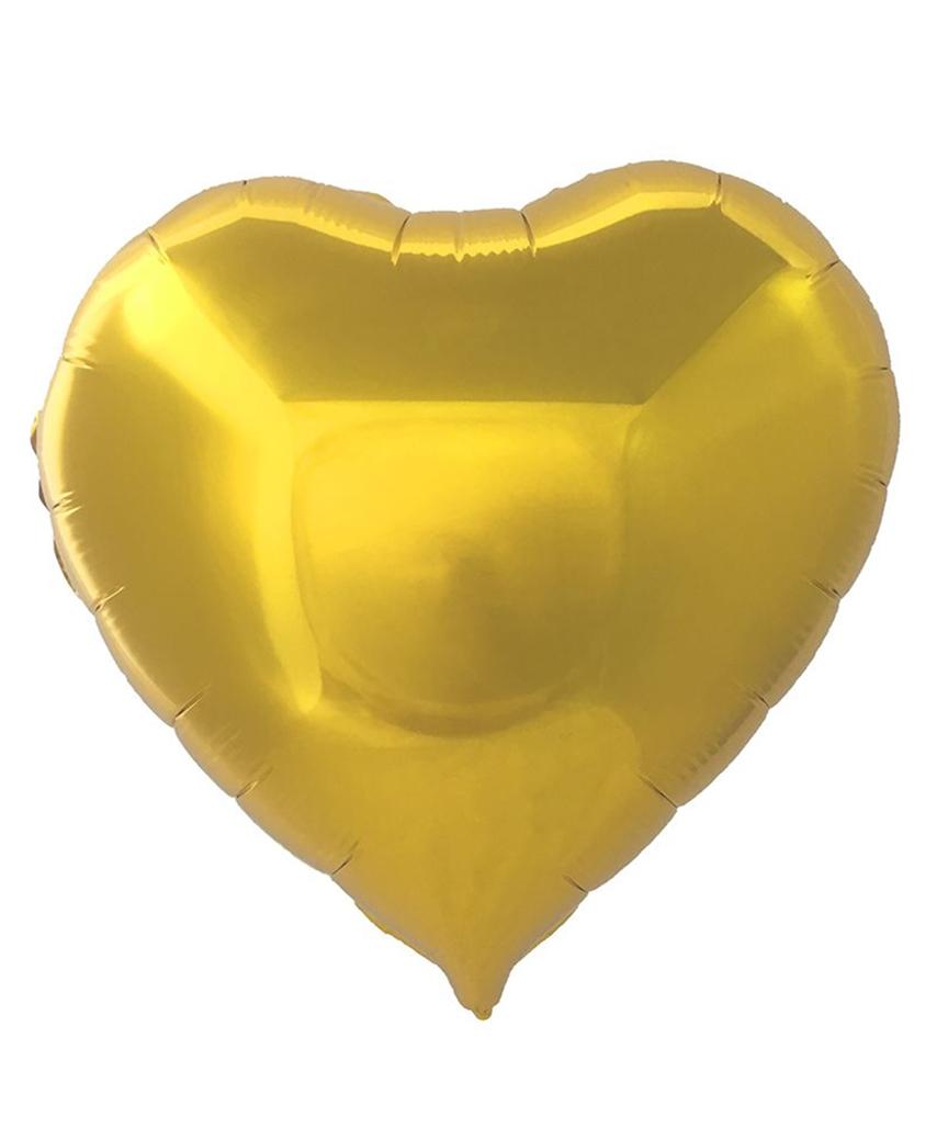 Кулька фольг. Pelican 5', СЕРЦЕ ЗОЛОТО 12 см, (ціна за упак/5шт)