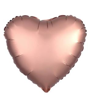 Купить Шар фольг. Pelican 18', сердце розовое золото 45 см, (фасовка по 5шт)