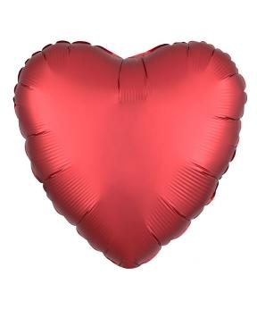Купить Шар фольг. Pelican 18', сердце сатин красное 45 см, (фасовка по 5шт)