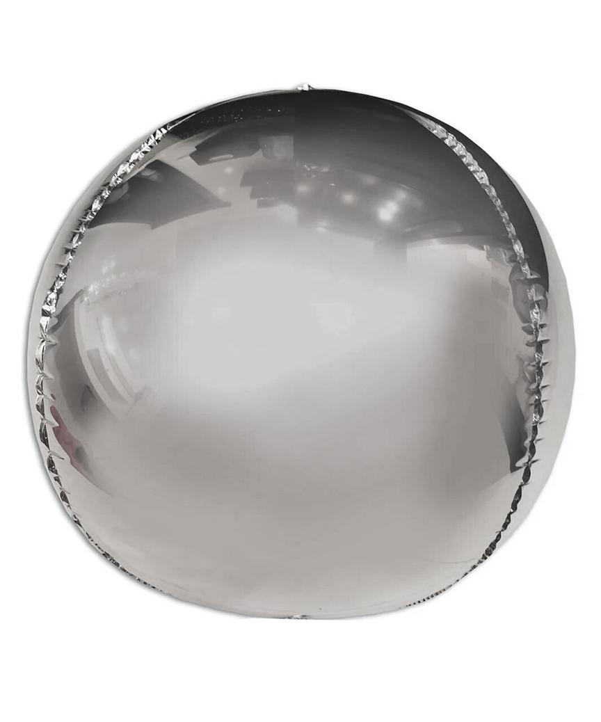 Шар фольг. Pelican 20', сфера серебро 50 см, (индивидуальная упак.)