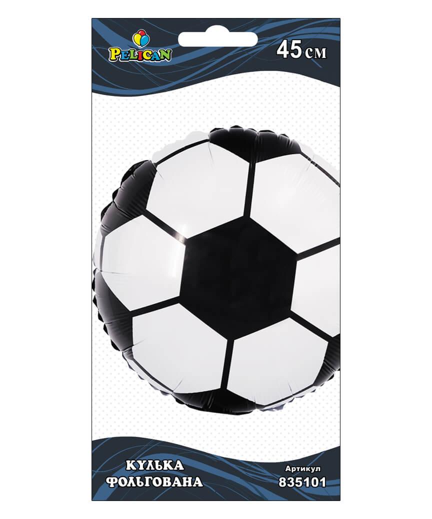 Шар фольг. Pelican, футбольный мяч, 45см (индивидуальная упак.)