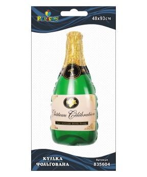 Купить Шар фольг. Pelican, бутылка шампанского, 93см (индивидуальная упак.)