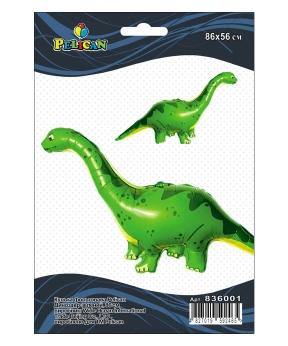 Купить Шар фольг. Pelican, динозавр зеленый, 86см (индивидуальная упак.)