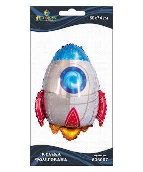 Купить Шар фольг. Pelican, ракета, 74см (индивидуальная упак.)