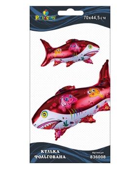 Купить Шар фольг. Pelican, акула, 70см (индивидуальная упак.)