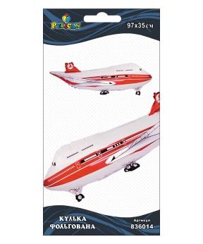 Купить Шар фольг. Pelican, самолет белый, 97см (индивидуальная упак.)