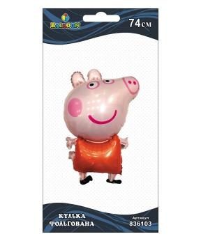 Купить Шар фольг. свинка Пеппа, 74см (индивидуальная упак.)