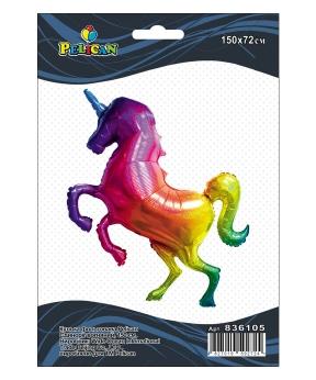 Купить Шар фольг. Pelican, единорог огненный, 150см (индивидуальная упак.)
