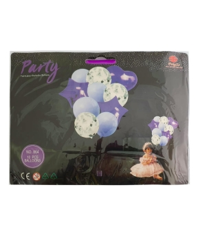 Купить Набор с 10 шаров, фиолетовый бум