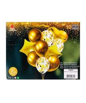 Купить Набор с 10  шариков, золото