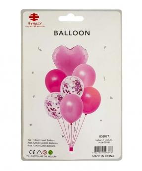 Купить Набор с 7  шариков, розовый