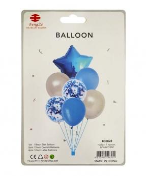 Купить Набор с 7  шариков, голубой