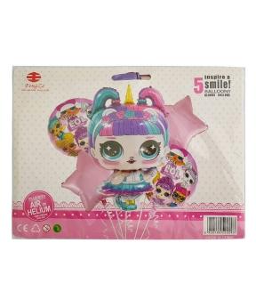 Купить Набор с 5 шаров, кукла LOL Единорог