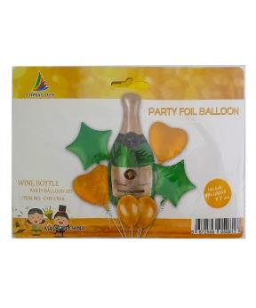 Купить Набор с 5 шаров, бутылка шампанского