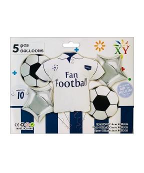 Купить Набор из 5 шаров фольгированных, футбольный фан