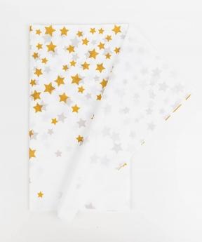 Купить Скатерть 274*137см, золотая звездочка