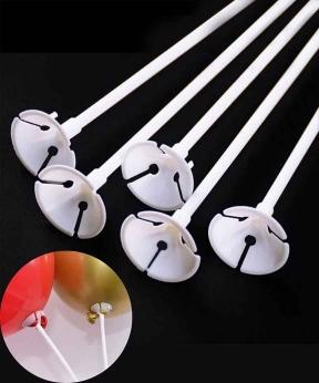 Купить Палочка 40см з кріпленням для латексної кульки,  біла
