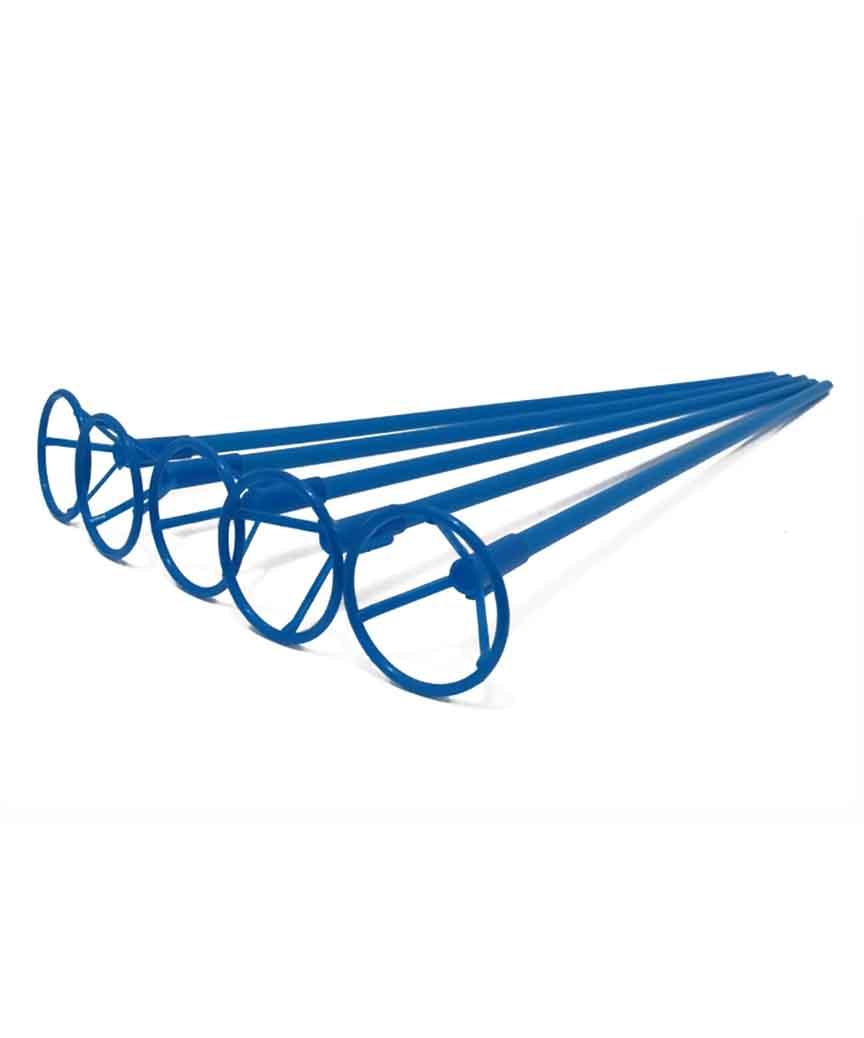 Палочка 50см з кріпленням для  кульки фольгов./ синій  (50/2000)