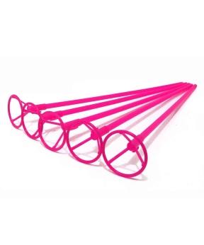 Купить Палочка 50см з кріпленням для  кульки фольгов./ рожевий