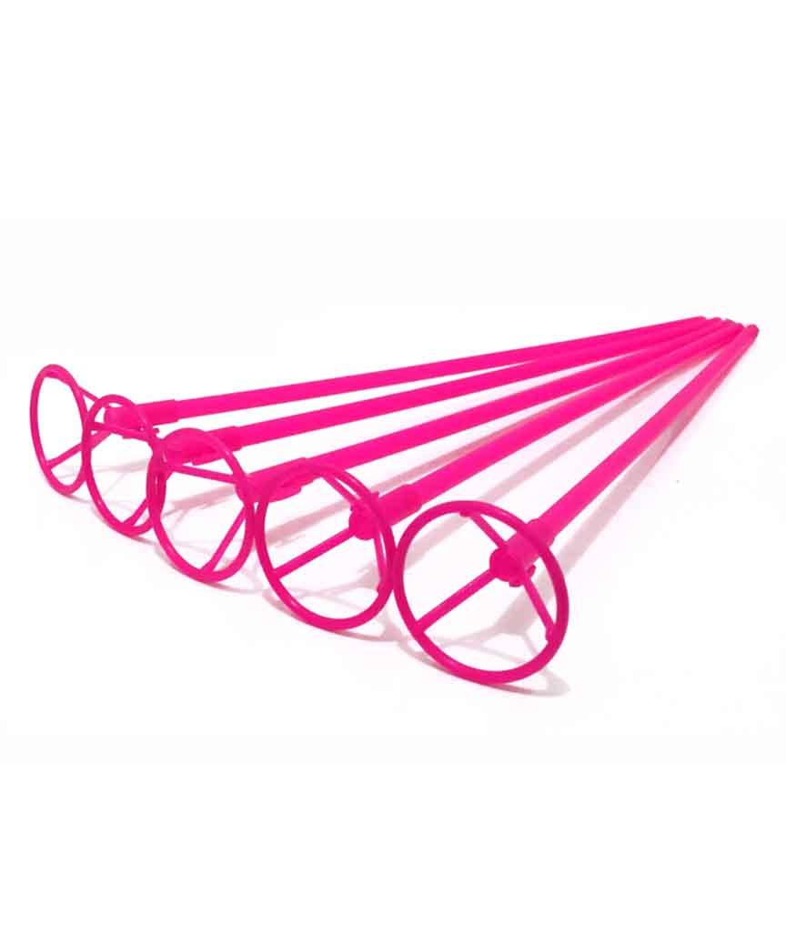 Палочка 50см з кріпленням для  кульки фольгов./ рожевий