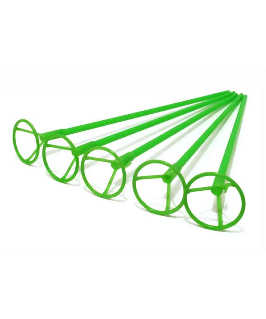 Палочка 50см з кріпленням для  кульки фольгов./ зелений