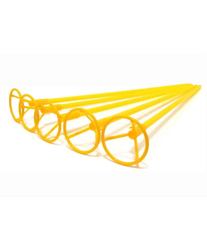 Палочка 50см з кріпленням для  кульки фольгов./ жовтий