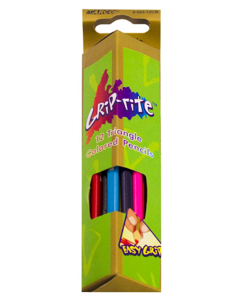 Карандаши треугольные12 цветов, MARCO 9100-12СВ