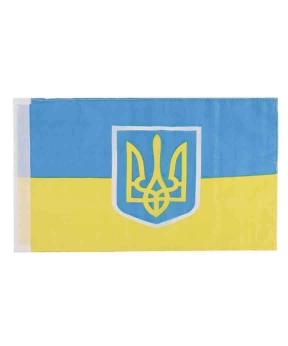 """Купить Прапор на бокове скло авто""""Україна тризуб"""" 30см*45см(поліестер)"""
