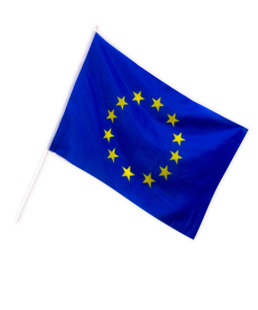 """Прапор """"Євросоюзу"""" 90см*60см (поліестер)"""