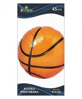 Купить Шар фольг. Pelican, баскетбольный  мяч, 45см (индивидуальная упак.)