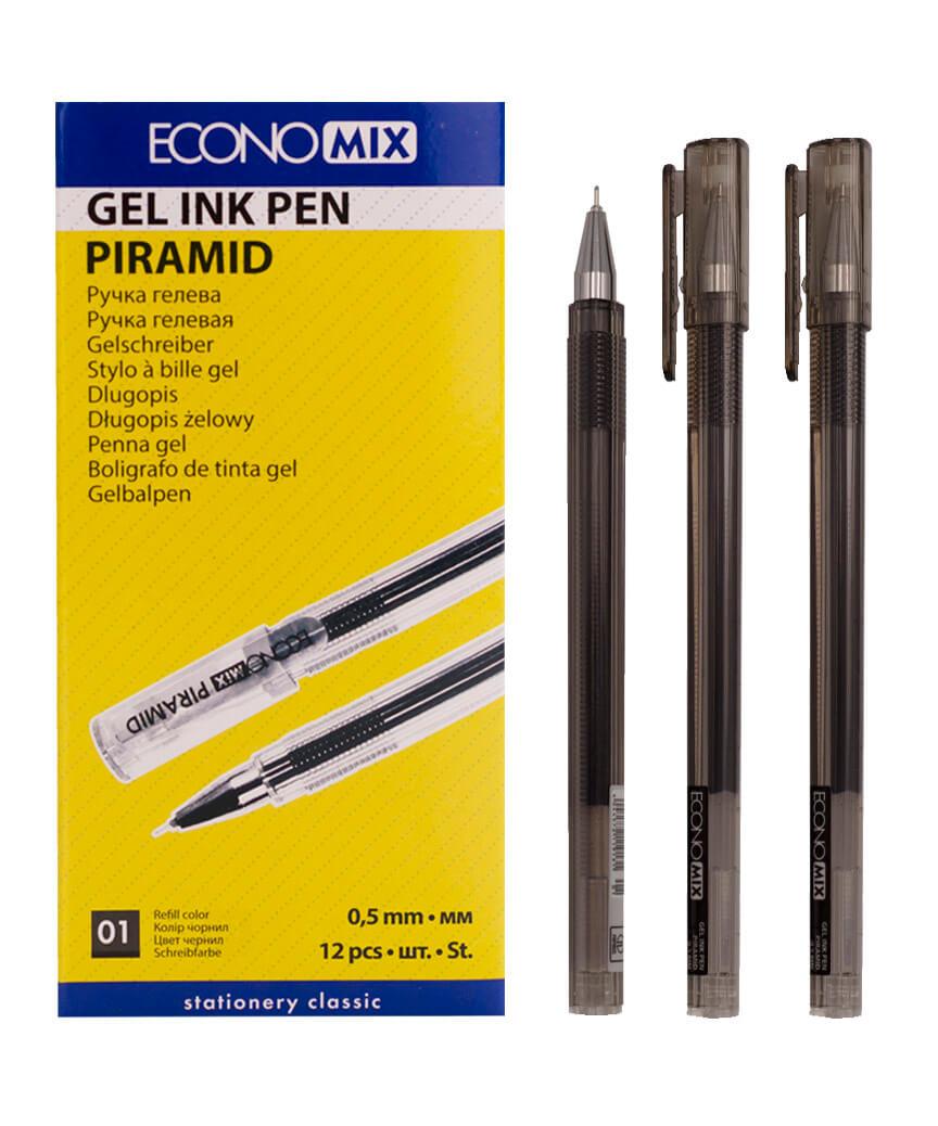 Ручка гелевая PIRAMIDA 0,5 mm черная