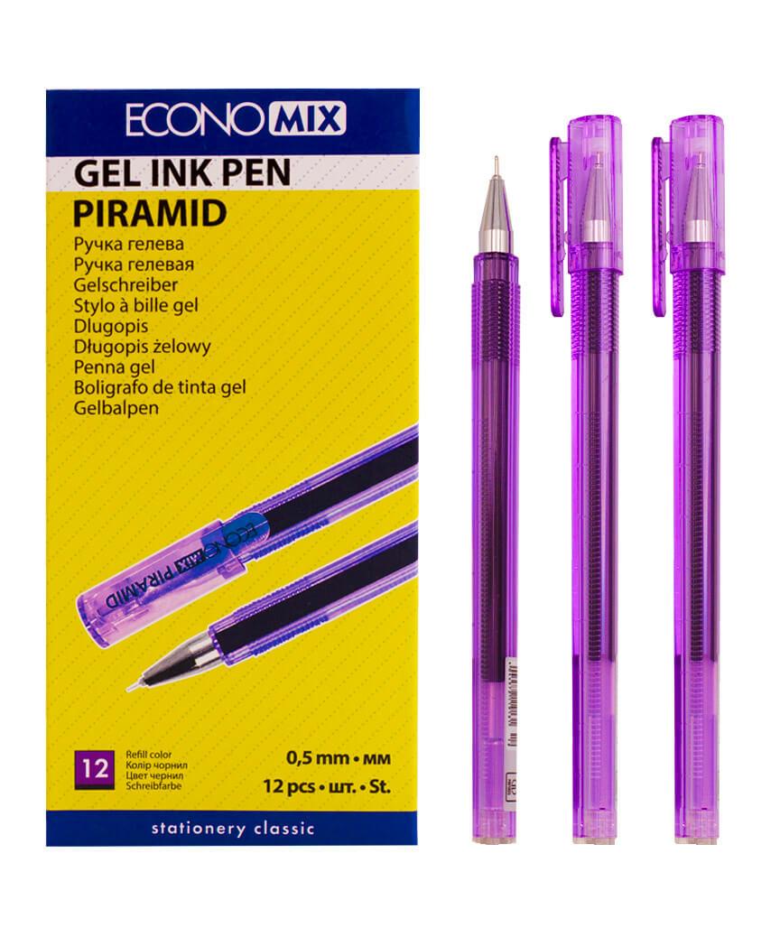 Ручка гелевая PIRAMIDA 0,5 mm фиолетовая