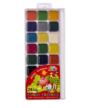 Купить Акварель медовая  24 цвета 312082