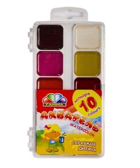 Купить Акварель медовая  10 цветов 312044